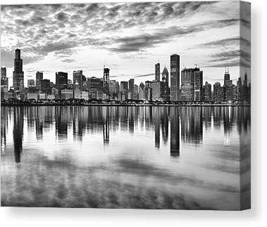 Chicago Black And White Canvas Prints