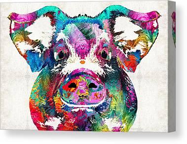 Bacon Canvas Prints