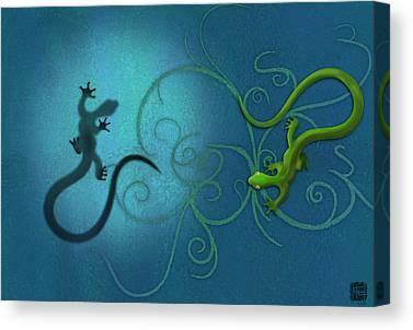 Lizard Canvas Prints