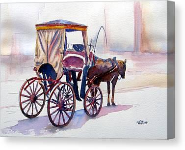 Carriage Horse Canvas Prints