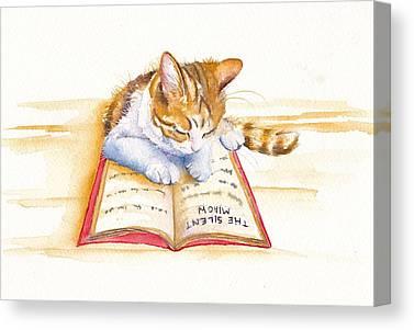 Calico Cat Canvas Prints