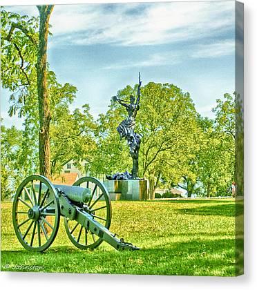 Confederate Monument Mixed Media Canvas Prints