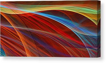 Shades Of Red Digital Art Canvas Prints