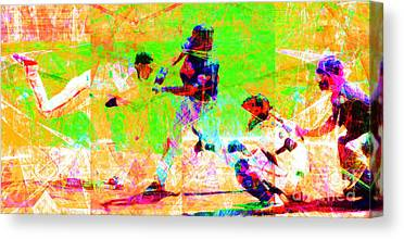 New York Baseball Parks Digital Art Canvas Prints
