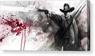 Rick Grimes Canvas Prints