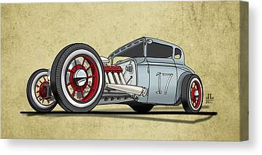 Old Car Canvas Prints