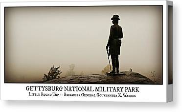 Civil War Site Photographs Canvas Prints