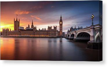 Palace Of Westminster Photographs Canvas Prints