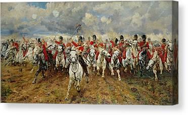 Charging Horses Canvas Prints