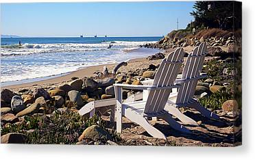 Surf The Rincon Canvas Prints