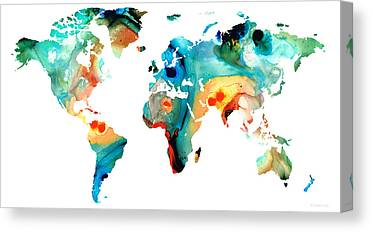 Map Of Asia To Print.Asia Map Art Fine Art America