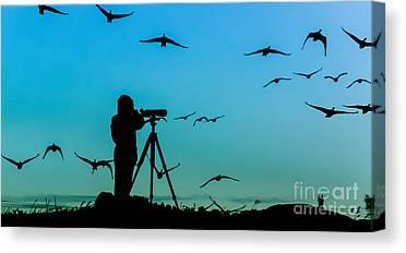 Ornithologist Canvas Prints