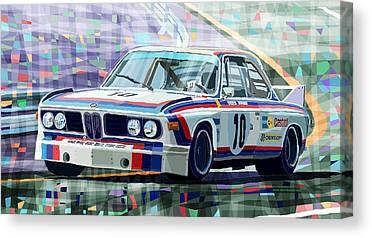 Race Car Canvas Prints
