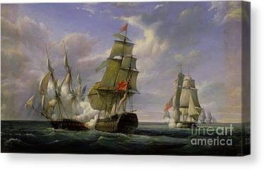 Warship Canvas Prints