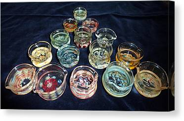 Heady Glass Dishes Canvas Prints