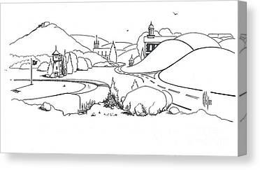 Arcadia Valley Drawings Canvas Prints