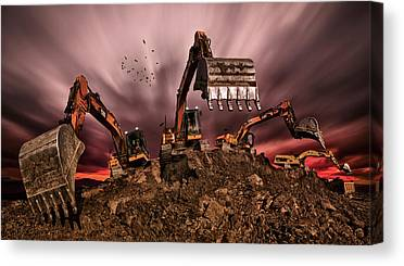 Steel Construction Canvas Prints