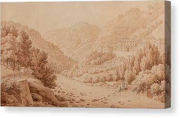 Tuscan Hills Drawings Canvas Prints