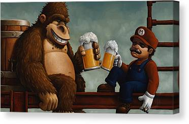 Donkey Kong Canvas Prints