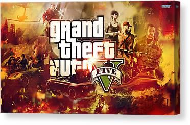 Grand Theft Auto Canvas Prints