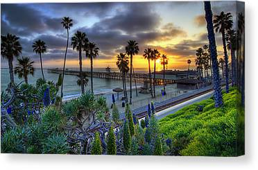 San Clemente Beach Canvas Prints