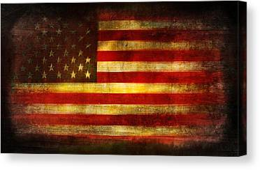 War Torn Flag Canvas Prints