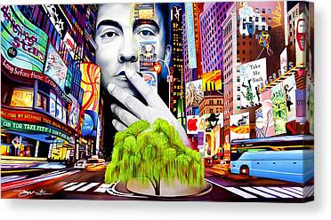 Dave Paintings Canvas Prints