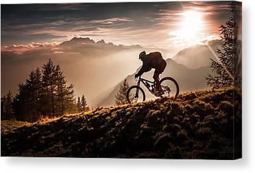 Bicycle Photographs Canvas Prints