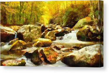 Rivers In The Fall Mixed Media Canvas Prints