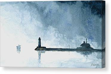 Duluth Canal Park Canal Park Lighthouse Lighthouse Lake Superior Minnesota Paintings Canvas Prints