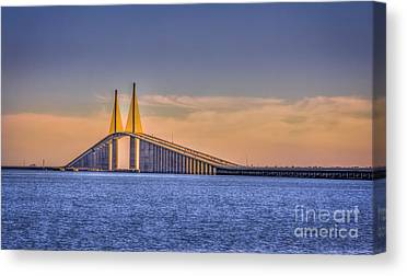 Port Of Tampa Canvas Prints