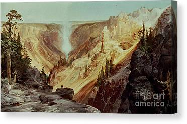 The Grand Canyon Of The Yellowstone Canvas Prints