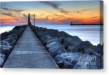 Muskegon Lighthouse Canvas Prints