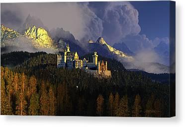 Castle Digital Art Canvas Prints