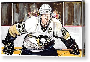 Nhl Hockey Drawings Canvas Prints