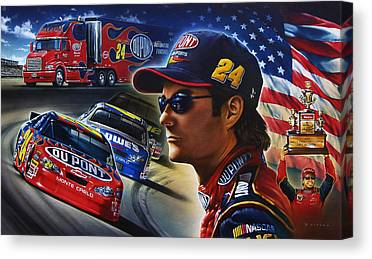 Jeff Gordon Canvas Prints