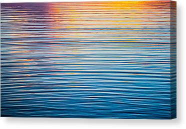 Lake Sunsets Canvas Prints