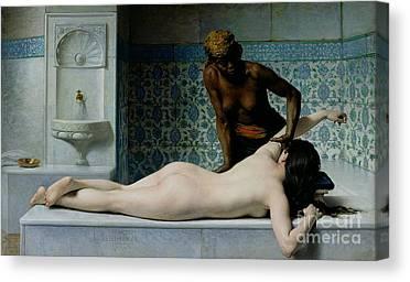 The Massage Canvas Prints