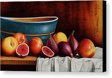 Peaches And Figs Canvas Print