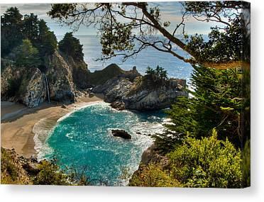 State Beach Near Big Sur Canvas Prints