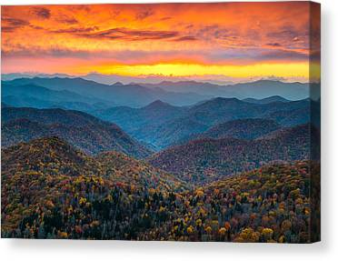 Mountain Sunset Canvas Prints