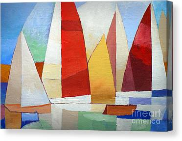 Colorplay At The Sea Canvas Prints