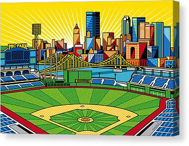 Baseball Art Digital Art Canvas Prints