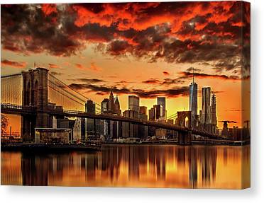 Manhattan Skyline Canvas Prints