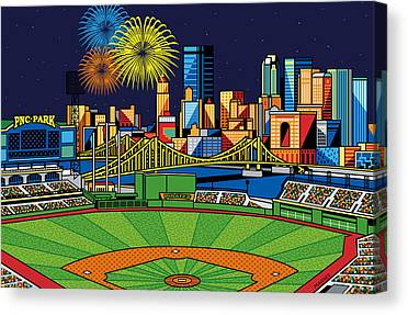 Pittsburgh Pirates Digital Art Canvas Prints