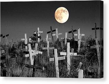 Cemetary Canvas Prints