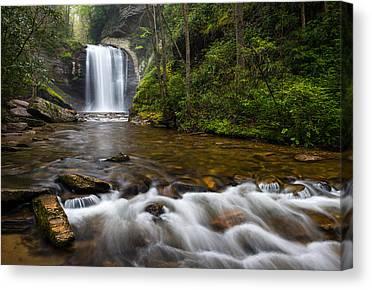 Blue Ridge Parkway Waterfalls Canvas Prints