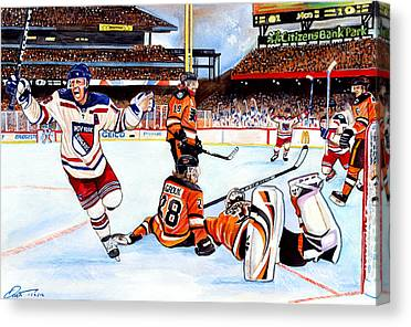 Nhl Winter Classic Drawings Canvas Prints