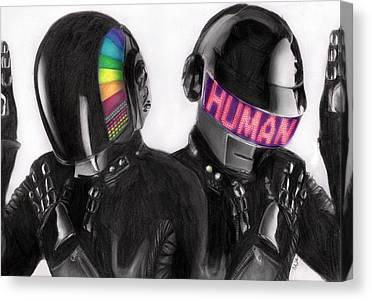 Daft Punk Drawings Canvas Prints