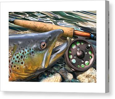 Wet Fly Canvas Prints